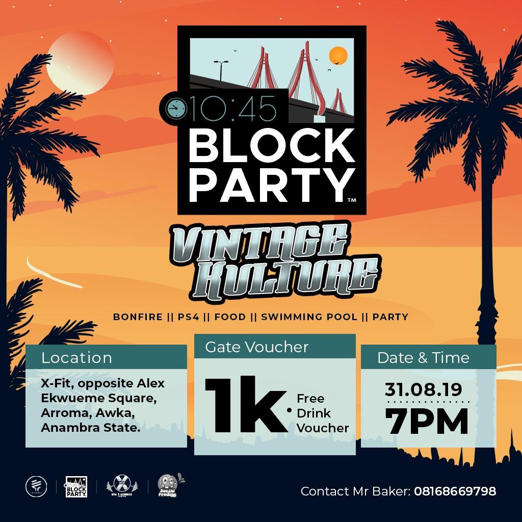 10:45 BLOCK PARTY