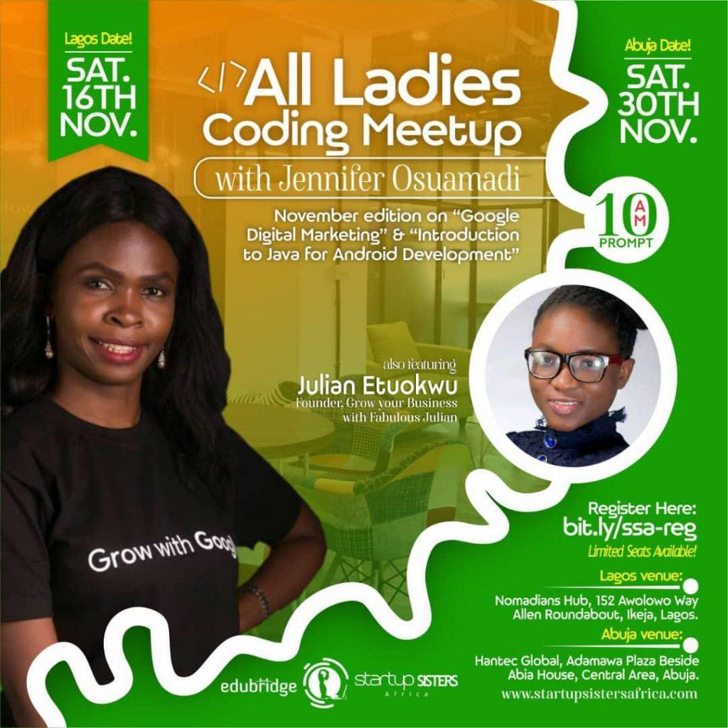 All Ladies Coding Meetup(with Jennifer Osuamadi)